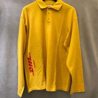 VETEMENTS oversized DHL polo
