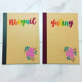 Customisable Colleagues graduating goodie Colleague teachers' Student Presents Present Gift Gifts Students Door Birthday friend Friends Teacher's Day Teachers Calligraphy Personalised Customised Notebooks Notebook cheap affordable farewell teacher muji