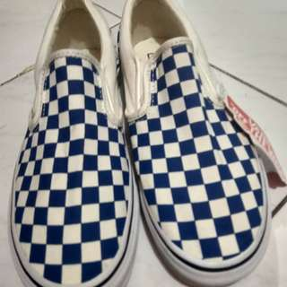 "Vans Slip On ""Blue & White"" Checkerboard"
