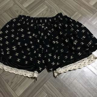 Channel Style Cotton Shorts