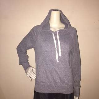 OLD NAVY gray hooded pullover sweatshirt medium