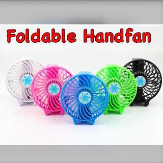 🚚 Instock!! Rechargeable Mini Portable Foldable Hand fan