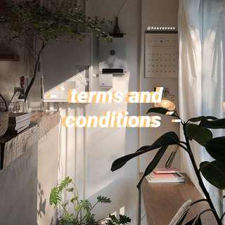 -` terms and conditions ´-