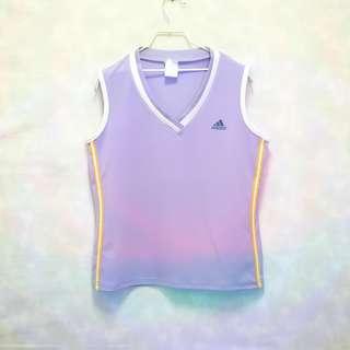 三件7折🎊 Adidas 背心 運動背心 球衣 淡紫 極稀有 老品 復古 古著 Vintage