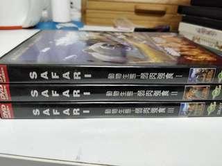 Safari Documentary DVD 3 pcs