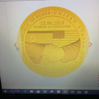 United States North Korea Summit medallion gold coin Ltd 3000