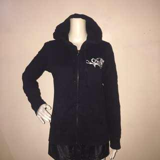 METAL MALISHA black hooded sweatshirt with zipper pullover medium