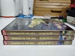 Danger in the sea dvd 3 pcs