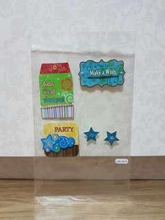 Pop Artz 'Make A Wish' Handmade Embellishments
