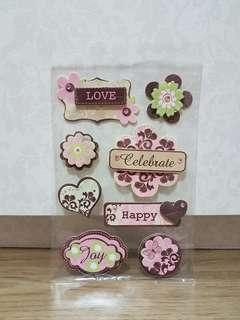 UW Scrapbooking 'Love' Handmade Embellishments