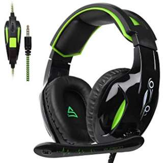 664. SUPSOO G813 Xbox One, PS4 Gaming Headset 3.5mm wired Over-ear Noise Isolating Microphone Volume Control for Mac / PC/ Laptop / PS4/Xbox one -Black