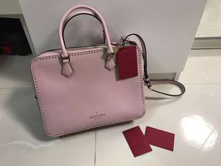 Valentino Pink Studded Bag