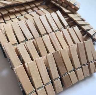 WOODEN CLIPS 100pcs ➕ 20M rope