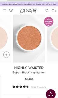 Colourpop Highly Waisted Highlighter
