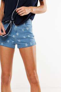 Cotton On High Rise Classic Star Denim Shorts