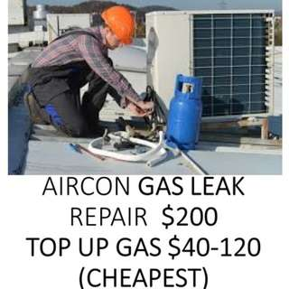 Aircon Gas Leak Repair $200,Gas Top Up $40 -$120 HP 93763389