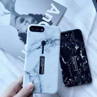iPhone 7 / 8 Plus Marble Ring Silicon Stand Case Cover