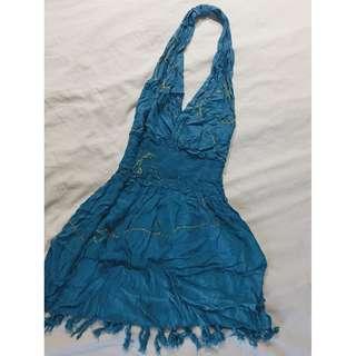 Women's Blue Beach Dress
