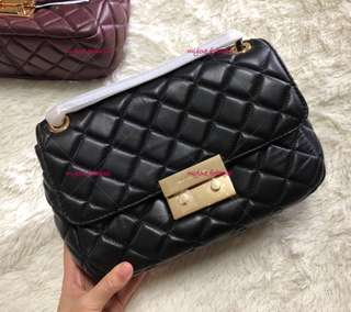 Ready Stock - Michael Kors Sloan Quilted Black