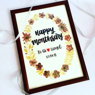 Customisable birthday  Farewell verses Christian bible verse teacher best friends Personalised colleagues colleague customised calligraphy Friend Frame monthsary friends present presents gift gifts anniversary Wife cheap Girlfriend Boyfriend day frame