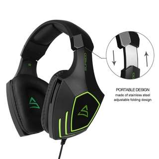665. SUPSOO Multi-Platform Xbox one PS4 Gaming Headset ] SUPSOO G820 Bass Stereo Gaming Headsets with Noise Isolation Microphone For New Xbox one PS4 PC Laptop Mac iPad iPod (Black&Green)