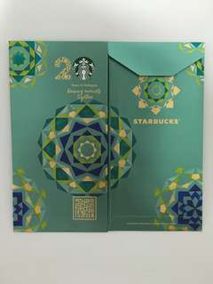 Starbucks Red / Raya Green Packets (2 pieces) (Exclusive 20th Anniversary)