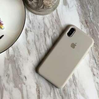 簡約岩灰磨砂蘋果手機殼