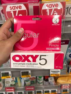 Oxy 5 Acne Pimple Medication (For Mild Pimple)