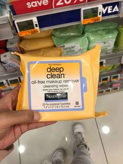 Neutrogena Oil Free Makeup Remover Cleansing Wipes