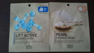 [4 @ $8] Firming Lift Active / Brightening Pearl Essence Masks