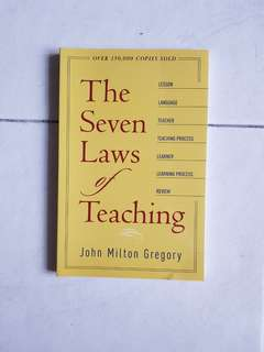 Christian Education: The Seven Laws of Teaching