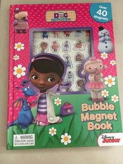 Doc mcstuffins Bubble magnet book