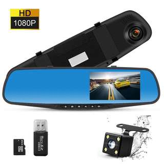 Dash Cam Rear view Dual Lens 4.3 Inch Touch Screen,1080P Full HD 170° Wide Angle Front Car Camera Video Recorder and with Parking Monitor Loop Recording