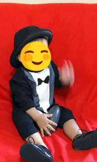 Little Gentleman Overall Costume / Tuxedo Outfit / Ootd