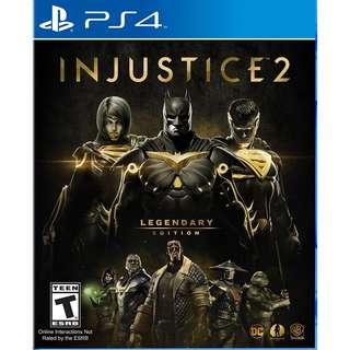 Playstation 4 PS4 Injustice 2