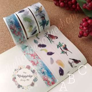 Japanese Watercolor Washi Tapes 20 mm x 3 m