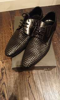 Never worn black dress shoes. Cool item and one of a kind!