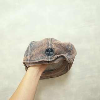 三件7折🎊 Timberland 貝雷帽 小偷帽 畫家帽 扁帽 老帽 淺紅藍 大理石紋 老品 電繡logo 極稀有 復古 古著 Vintage