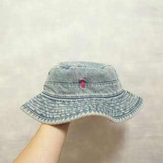 三件7折🎊 Ralph Lauren Polo 漁夫帽 遮陽帽 老帽 牛仔 藍刷色 小紅馬 美國製 極稀有 復古 古著 Vintage