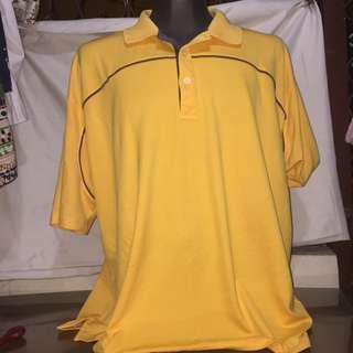 UNDER 2 Yellow plus size drifit men polo tshirt xxxl