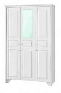 Lemari pakaian 3 pintu cermin putih glossy