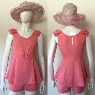 Pink romper short
