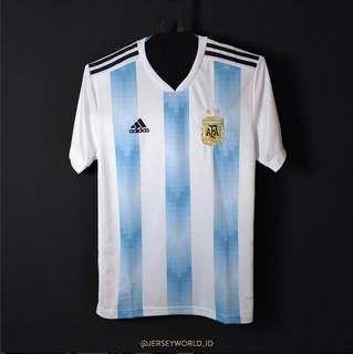 Kaos jersey sepakbola timnas ARGENTINA home 2018 pria