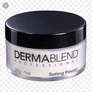 Dermablend high resistant translucent setting powder