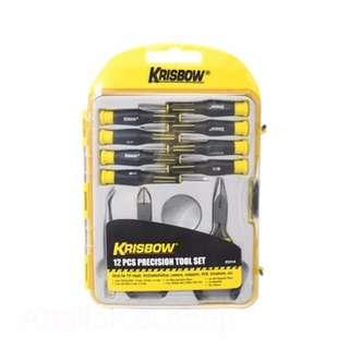 Krisbow set obeng / tool set presisi 12 pcs