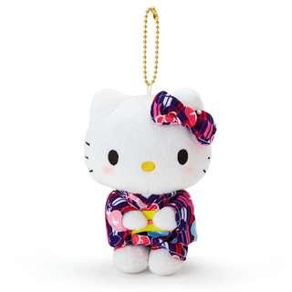 日本 Sanrio 直送 Hello Kitty 浴衣系列公仔掛飾匙扣 - 牽牛花