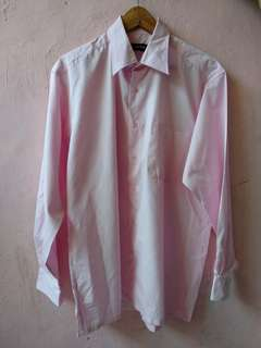 BOSS Pink Pastel Plain Shirt