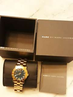 Marc Jacob's Watch (Gold Chain & Emerald Face)