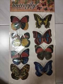 Butterfly 3D sticker