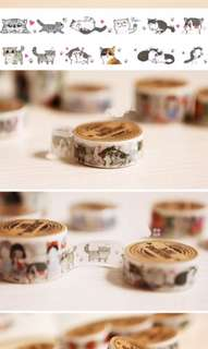 Set of 5 Kawaii cat kitten 🐱 Washi Tape